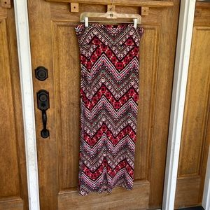 Eye Candy   Chevron Multicolor Maxi Skirt w/ slit